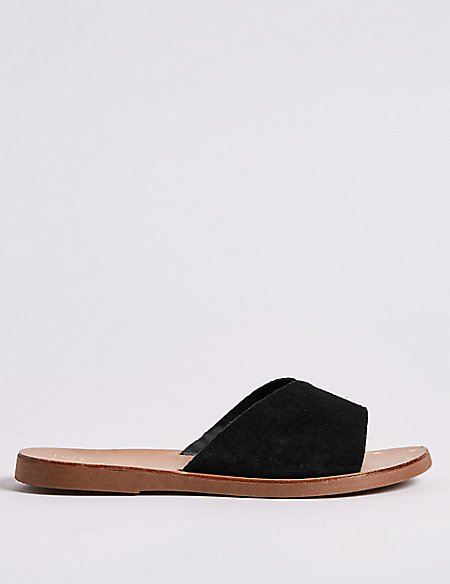 Suede Mule Sandals