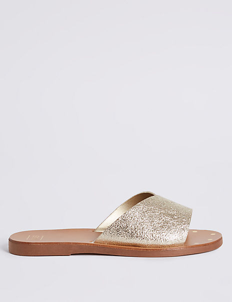 Sparkly Mule Sandals