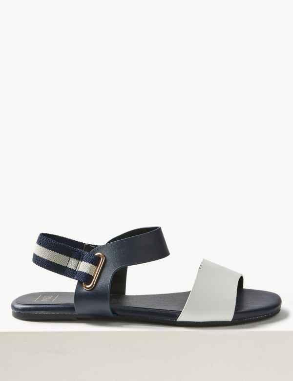 82d48ec372c2 Elastic Ring Detail Sandals