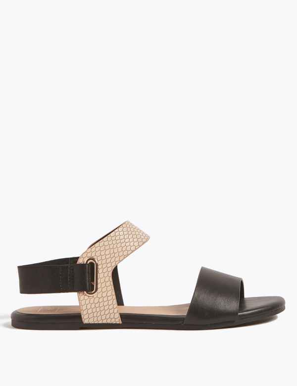 9977ad6b0 Elastic Ring Detail Sandals. M S Collection