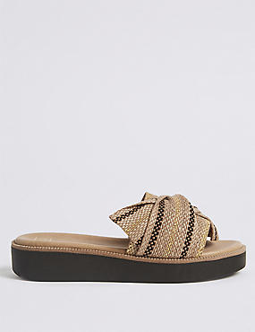 Woven Knot Mule Sandals