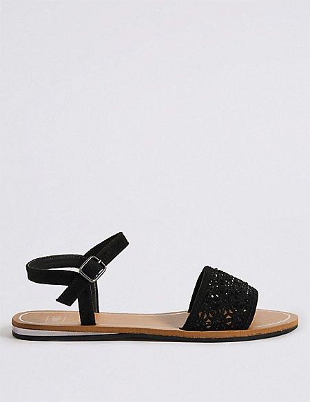 Sparkle Laser Cut Sandals