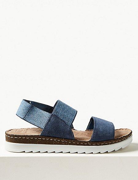 Suede Elastic Sandals