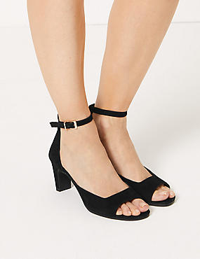 19aa732e9d92 Suede Ankle Strap Sandals