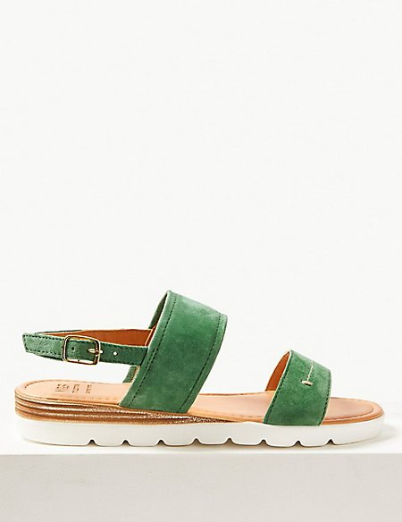 Suede Two Band Sandals