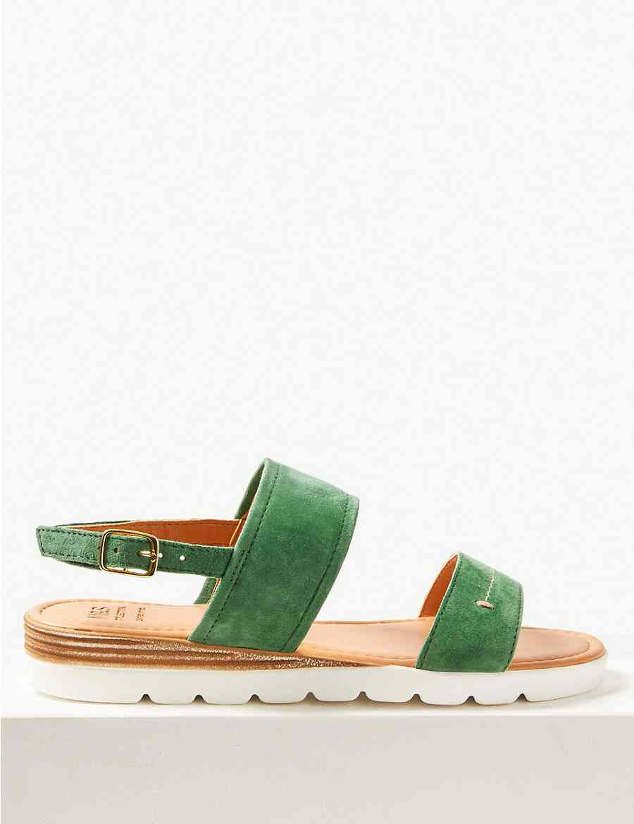 18f36c5d7ab Suede Two Band Sandals