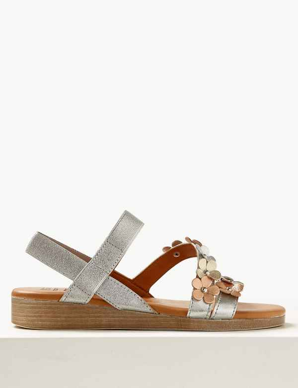 df9109585a3 Leather Two Band Sandals