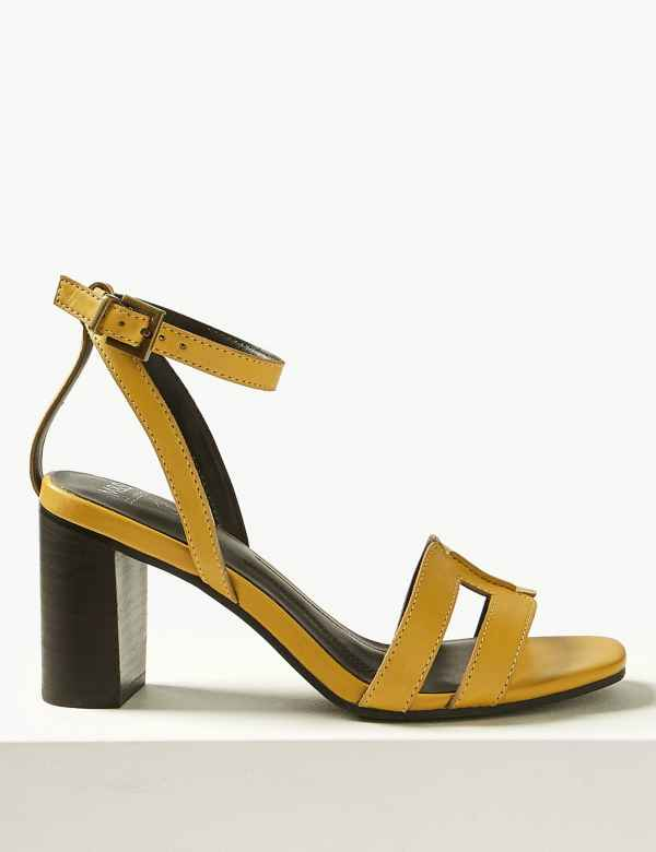 8e34aed561347b Leather Ankle Strap Sandals