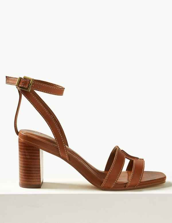 aeffd8d9e31 Leather Ankle Strap Sandals