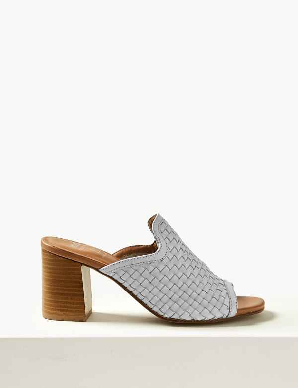3a04050fe3d7 Leather Mule Sandals. New