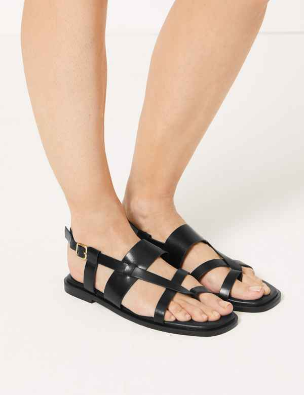 78900e72e471 Leather Cross Over Strap Sandals