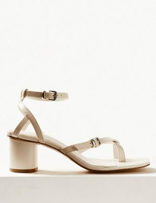 1151008b7d2c Leather Ankle Strap Sandals £39.50