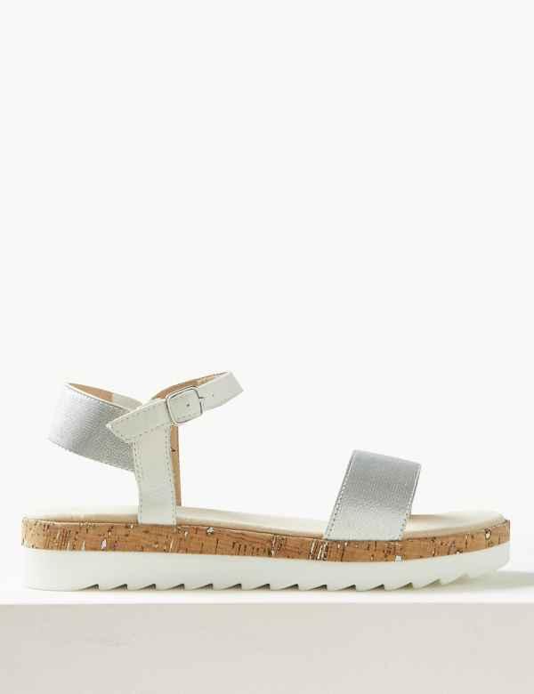3b8cd74f3c92 Leather Flatform Ankle Strap Sandals