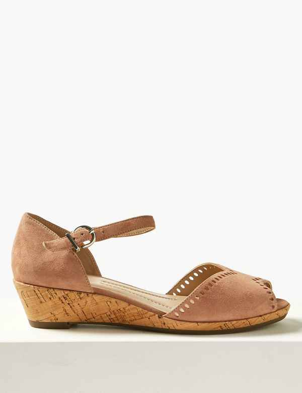 66f36af1d63 Womens Wedge Sandals | Wedge Sandals for Ladies | M&S