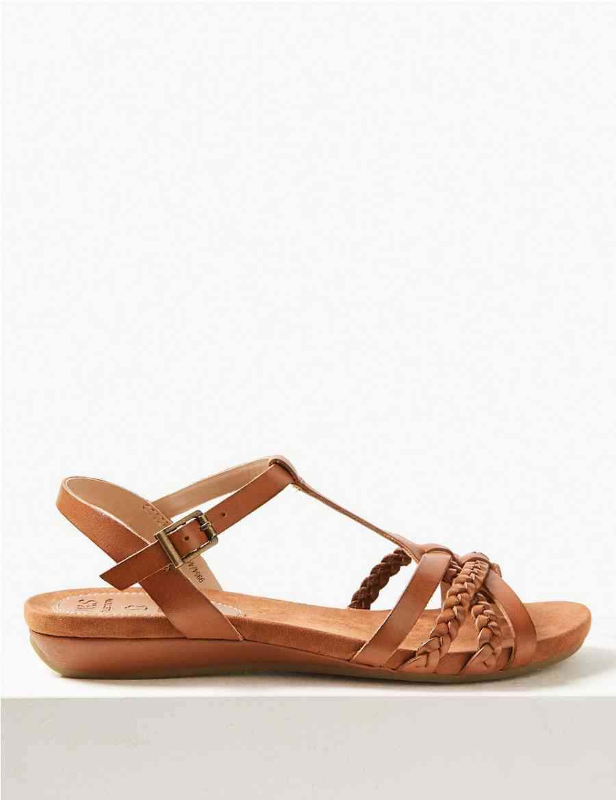 d45db4a4c37 Leather Gladiator Sandals