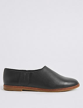 Leather Low Cut Loafers