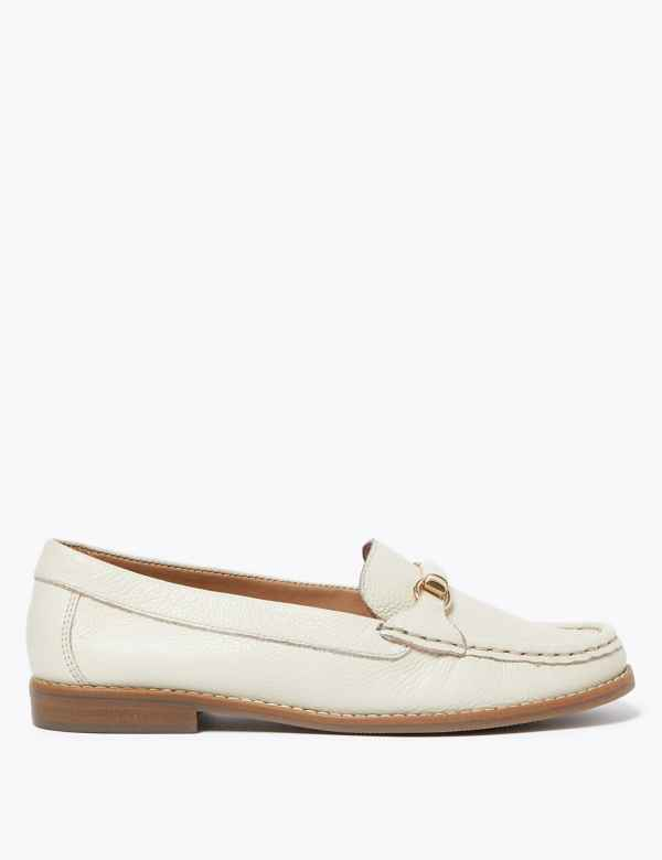 M /& S Ladies Weave Leather Side Detail Loafers Shoes Pumps 4 5.5 6 6.5 7 rrp £45