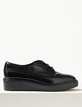 Leather Flatform Brogue Shoe