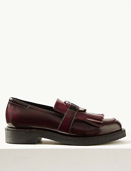 Leather Ring Detail Loafer