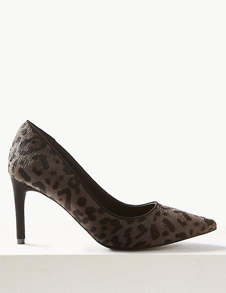 Stiletto Heel Mid Point Court Shoes