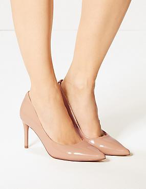 Stiletto Heel Court Shoes , NUDE, catlanding