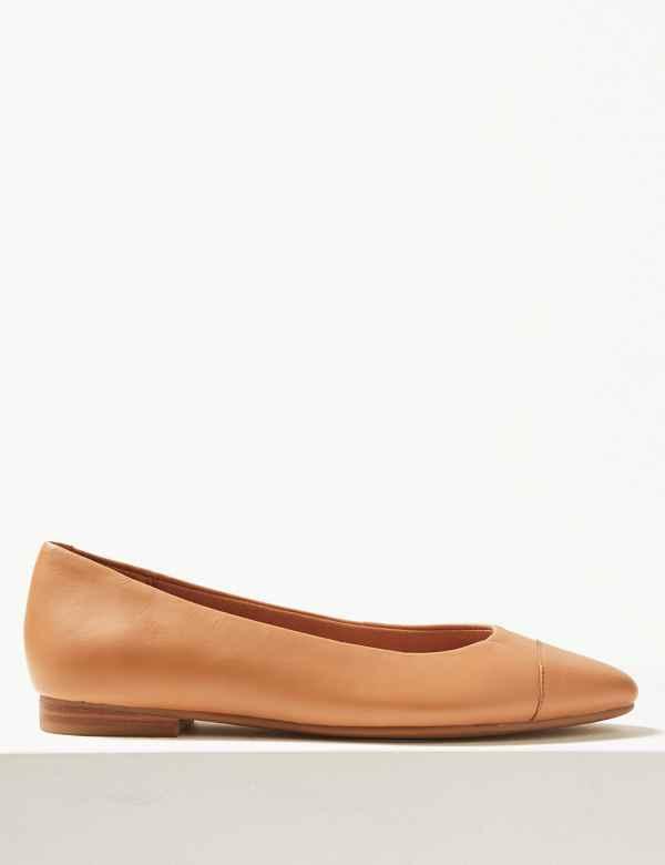 78d49d9e67a625 Leather Almond Toe Pumps