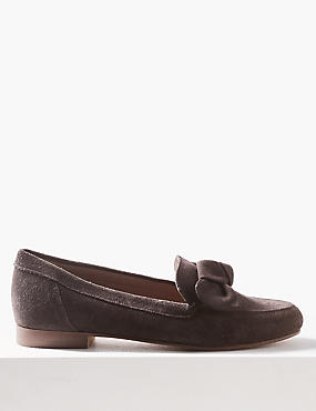 Suede Block Loafers