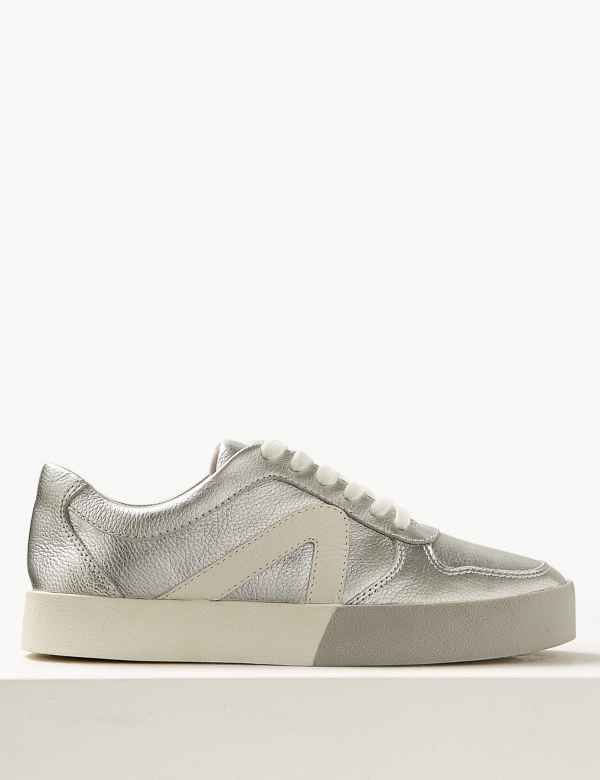 a0658195b7f Leather Lace-up Trainers