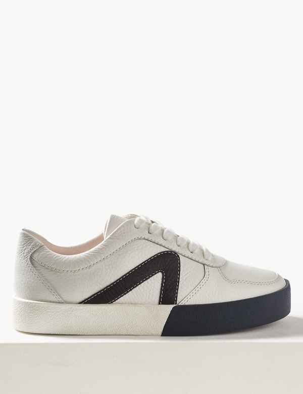99fe843caae5 Leather Lace-up Trainers