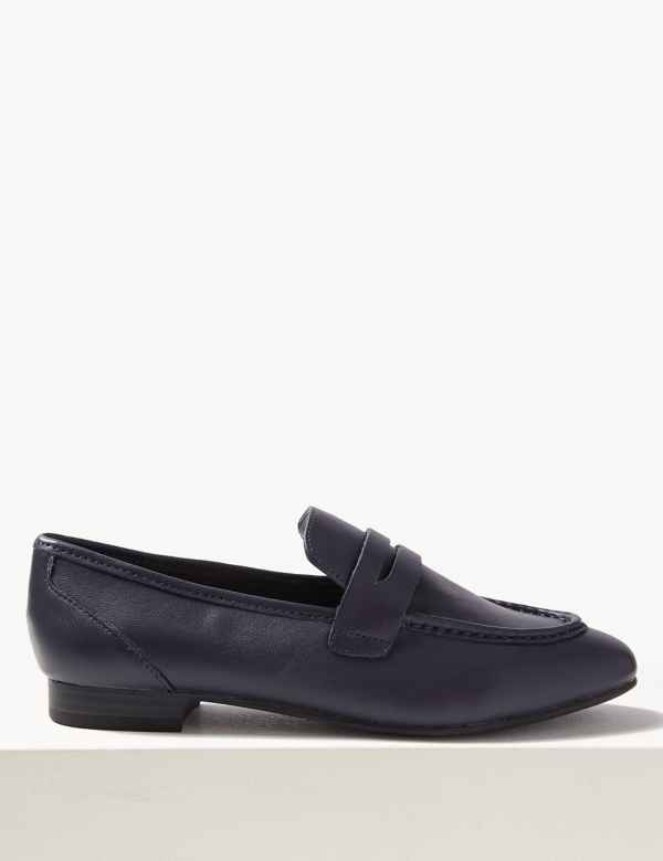 a5b652457ef Leather Penny Loafers
