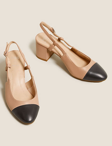 Leather Slingback Shoes