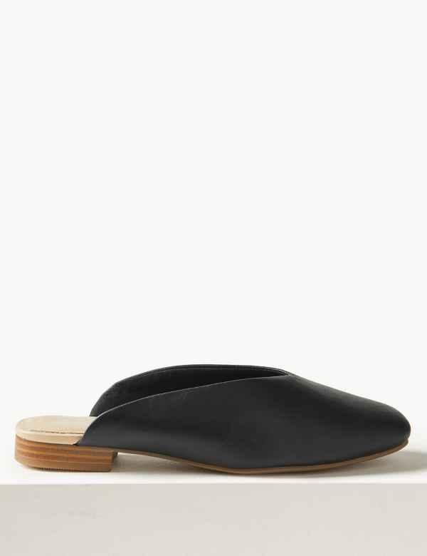8b3ebfe23 Leather Mule Shoes