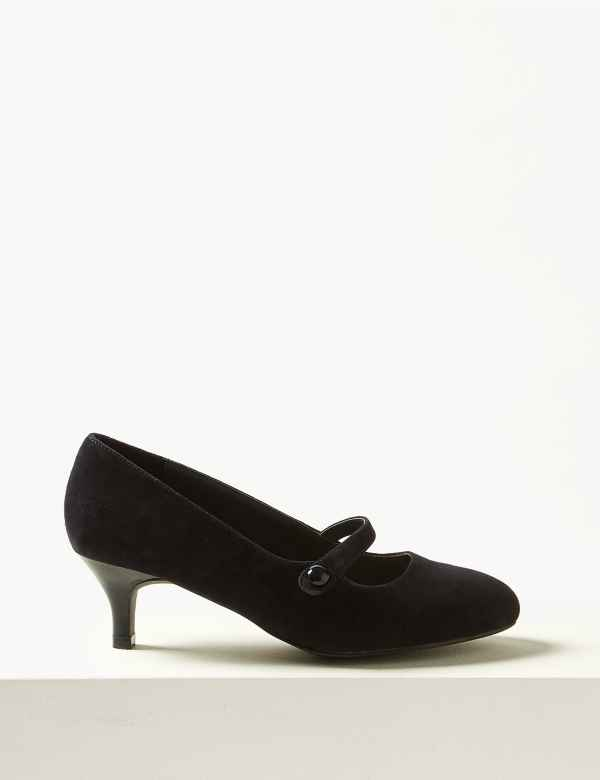 3f10e5ae566a Suede Kitten Heel Court Shoes