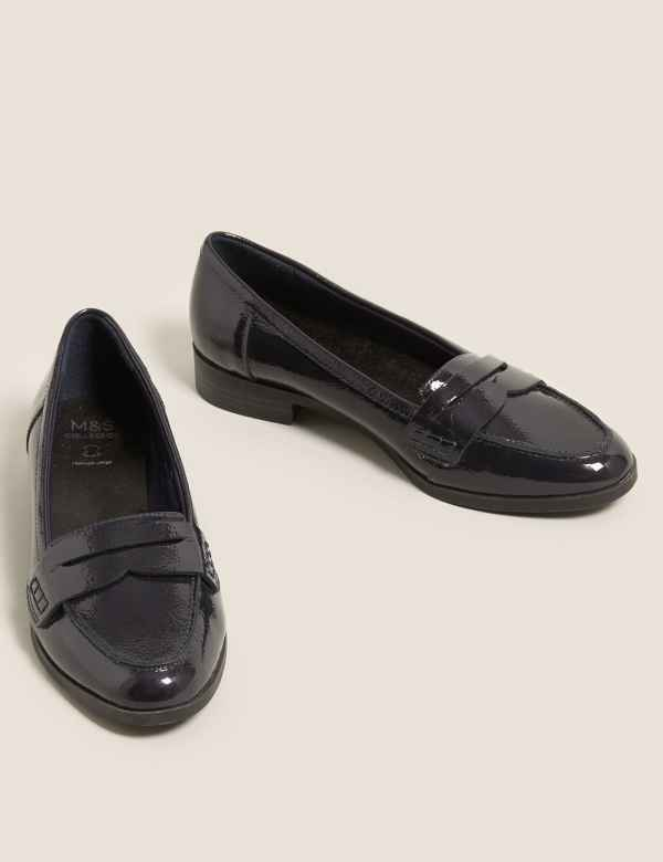 35003e021aa Leather Saddle Loafers