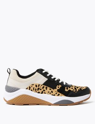Leopard Print Chunky Trainers by Marks & Spencer