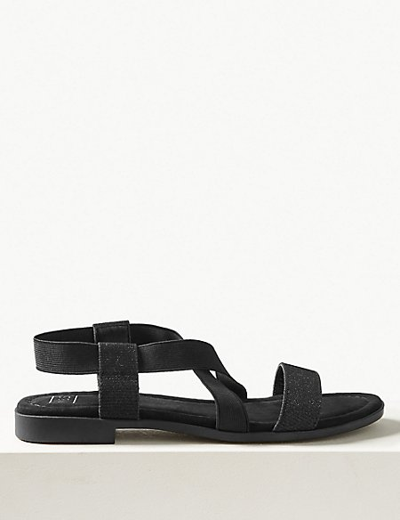 Elastic Sandals with Stain Resistant