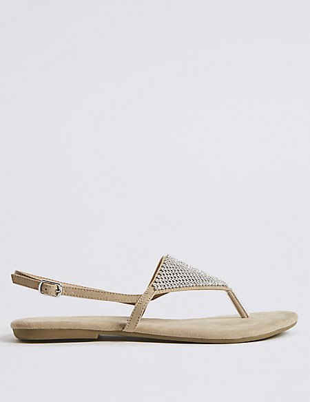 Buckle Chain Mail Sandals