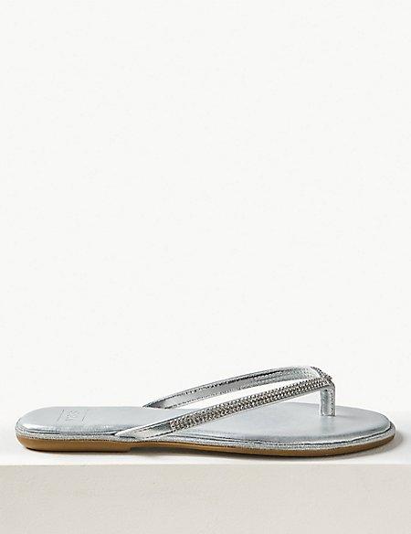 Diamanté Flip-flops Sandals
