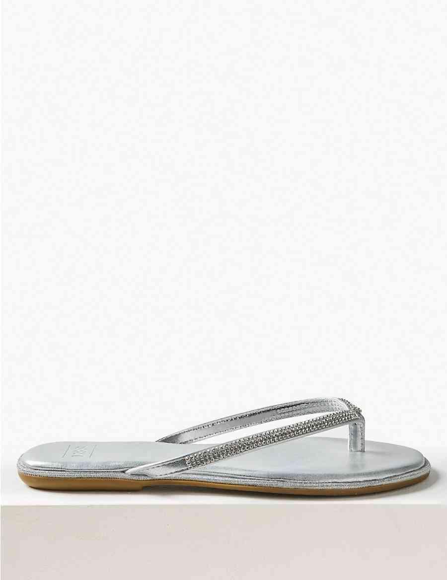 8a7eb776a Diamanté Flip-flops Sandals