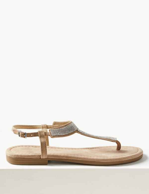 2d4b08a078e T-Bar Embellished Sandals