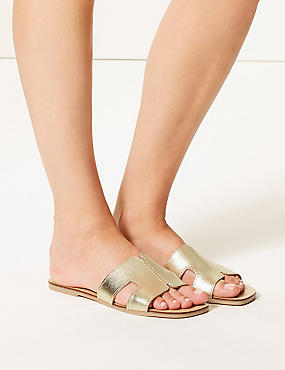 Leather H-Band Sliders