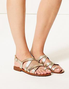 Buckle Strappy Loop Sandals