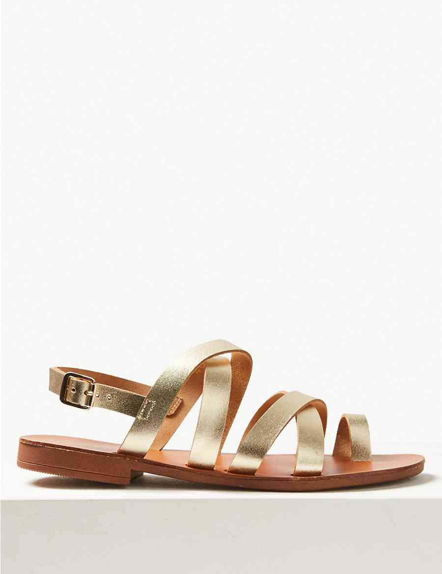 fcf54d6f65e286 Buckle Strappy Loop Sandals