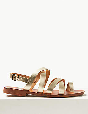 Buckle Strappy Loop Sandals