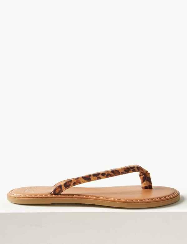 40fd356cda5322 Animal Print Flip-flops Sandals
