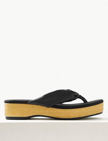 22a63a50d7b Flatform Toe Thong Sandals