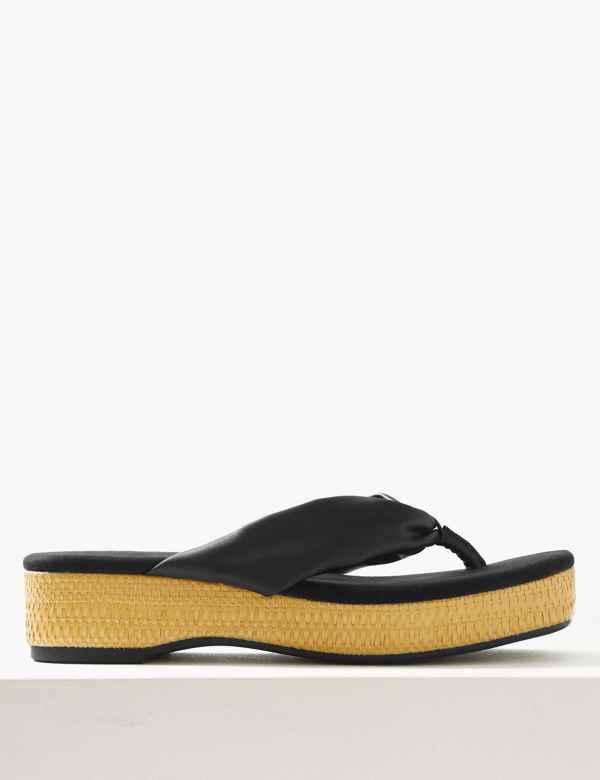 cc3ea8ca37c Flatform Toe Thong Sandals