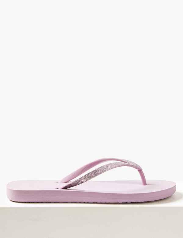 1a18d2207 Open Toe Glitter Flip-Flops