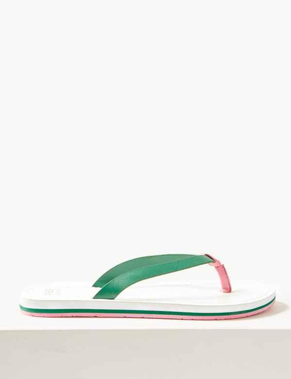 fe5075c1fdb50 Open Toe Stripe Base Flip-flops Sandals