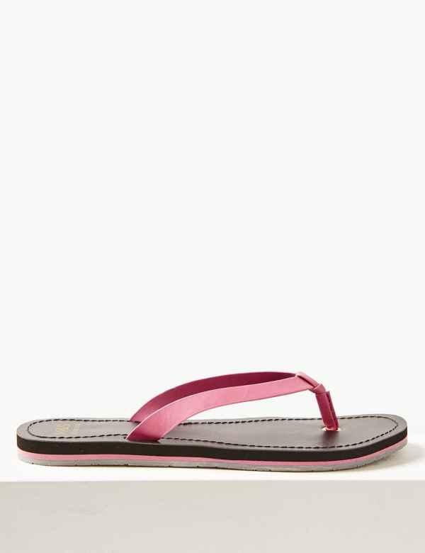 2da0b906801e Open Toe Stripe Base Flip-flops Sandals